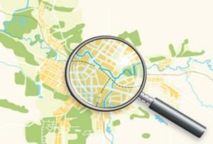 Mapa szlaków tursytycznych w ramach projektu Przygoda z Nysą
